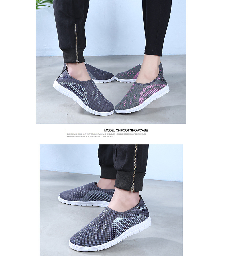 Mesh women sneakers Breathable Slip On casual shoes women fashion comfortable Summer Flat Vulcanize Shoes Zapatos Mujer VT248 (9)