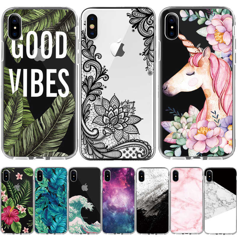 Case For iPhone X XS XS MAX XR 8 7 6 6S Plus 5 5s SE Soft TPU Silicone Back Cover For iPhone XS MAX Phone Coque Capa Funda