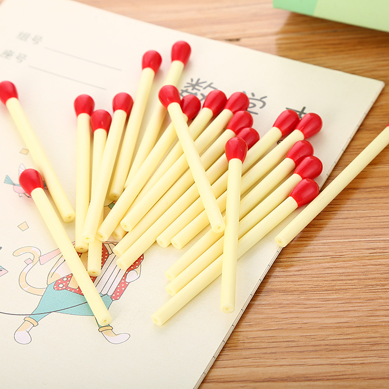 6pcs Cute Cartoon Kawaii Funny Red Chicken Gel Ink Roller Ball Point Pen School
