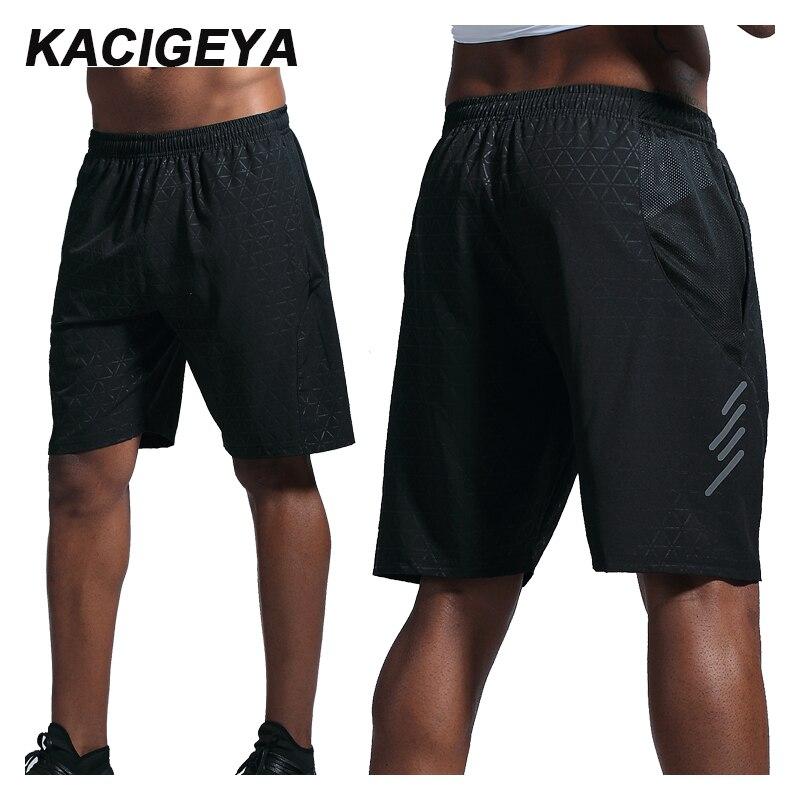 Pantalones cortos de compresión de secado rápido transpirable Fitness Sportwear hombres pantalones cortos de playa 3XL Jogging entrenamiento pantalones cortos de bolsillo