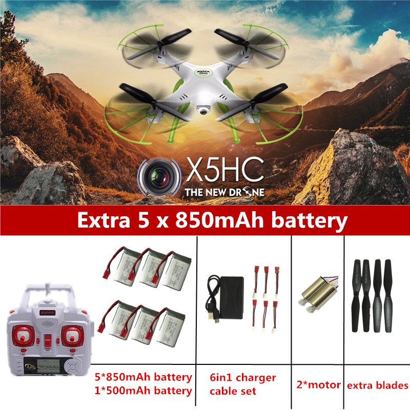 ФОТО SYMA X5HC RC Drone With Camera Quadrocopter RC Helicopter SYMA X5C Upgrade Drones With Camera HD Automatic Air Pressure High