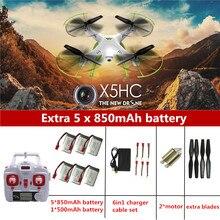 X5HC RC Drone Con Cámara RC Helicóptero Quadrocopter SYMA SYMA X5C Actualización Drones Con Cámara HD Automático de Presión de Aire de Alta