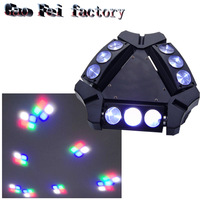 9 Moving Head green RGBW 9*10 Triangle Spider Moving Head Light Laser Dj