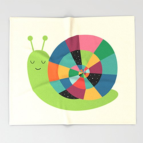 Snail Time Throw Blankets 51 x 60 Blanket