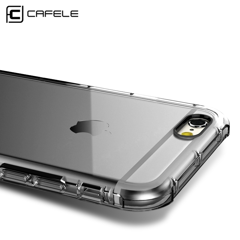 Mobile Phone Bags & Cases: CAFELE Luxury Case for iphone 6 cases Transparent Soft TPU Silicon Cover for Apple iphone 6S Plus Case with Shockproof Cushion