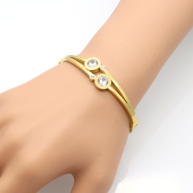 Double Crystal Bangle