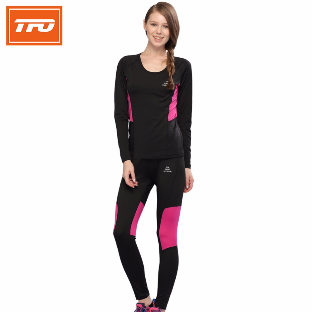 Tfo Women Thermal Underwear Outdoor Men Hiking Sports Sets Breathable Long Johns -3142