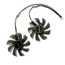 T129215SU HIS RX570 XFX RX570 GPU VGA Alternative Cooler Cooling Fan For HIS XFX RX 570 Graphics Video Cards As Replacement