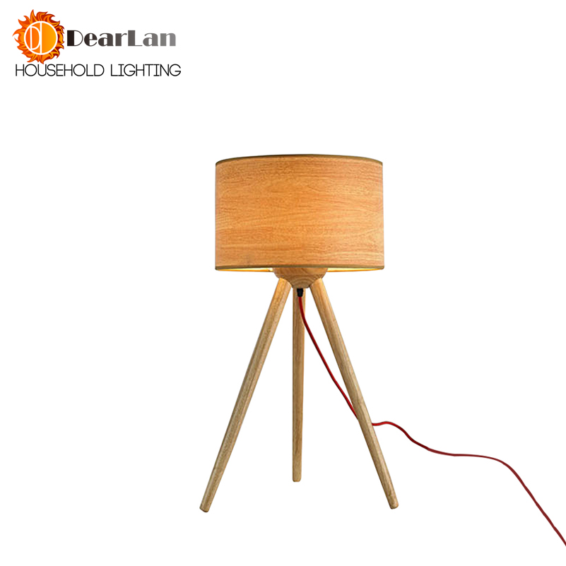 Wooden Art 3-foot Reading Table Lamps Cloth Lamp Shade Modern Lamps For Foyer Living Room LED Indoor Bedside Desk Lamps For Room art deco desk lamps 1 e27 bulbs 40w wooden reading lights free shipping