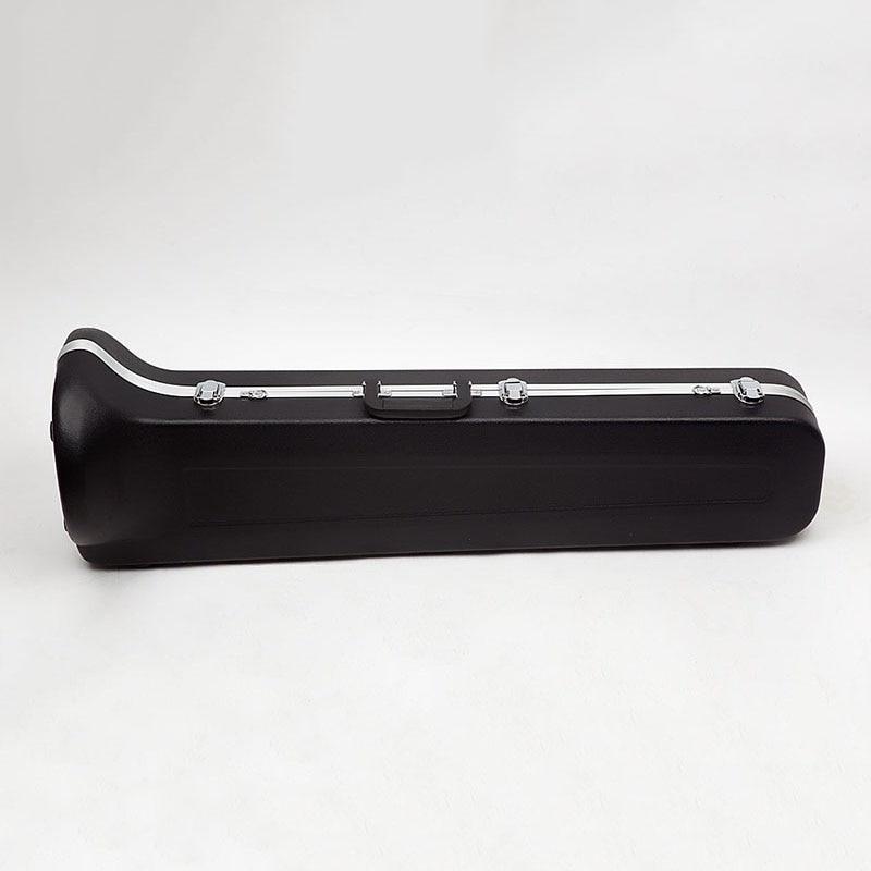 Alto Tenor Trombone Case Shock Brass Instrument Case Earthquake Resistance ABS Trombone Bag Cover Shoulder Strap Portable Case