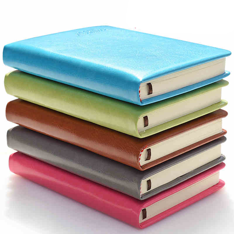 2016 new thick note book A5 leather notebook creative stationery office supplies planner agenda hard cover high quality недорого