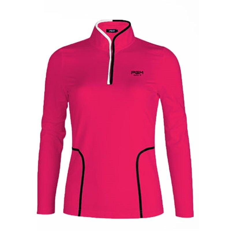 Pgm femmes sous-vêtements Golf à manches longues t-shirt femmes en plein air Uv protéger crème solaire chemise femmes respirant glace Golf vêtements AA60455