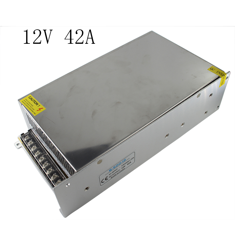 все цены на Dual Output 12V Metal Power Supply Transformer Power Adapters for Strip 3D Printer Accessories Switch Power Supply 12V 42A 500W онлайн