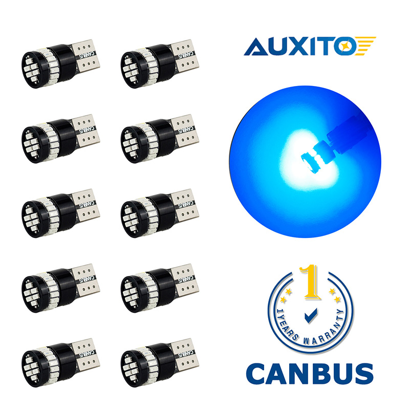 10X T10 194 W5W LED Clearance Parking Lights For Toyota Corolla Avensis Yaris Rav4 Auris Hilux Prius Camry 40 Celica Supra Prado