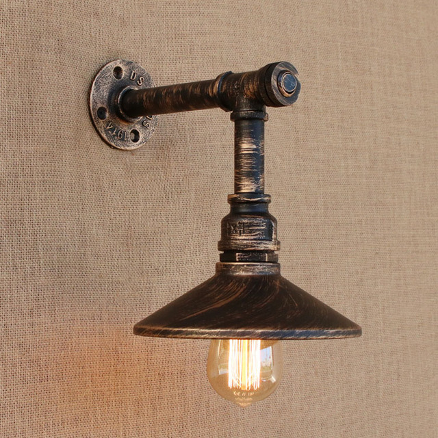 Loft Style Iron Water Pipe Lamp Edison Wall Sconce With Switch Retro Wall  Light Fixtures Indoor
