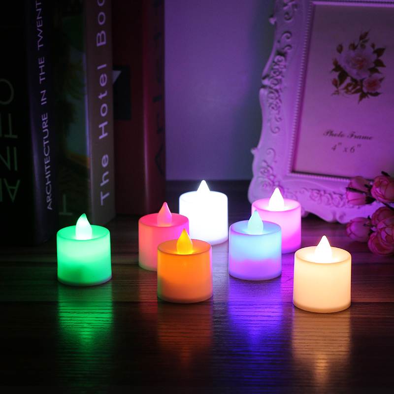 24pcs Romantic LED Candle Night Light Wedding Props Decorated Candle Light Birthday Gift Party Wedding Supplies Lamp