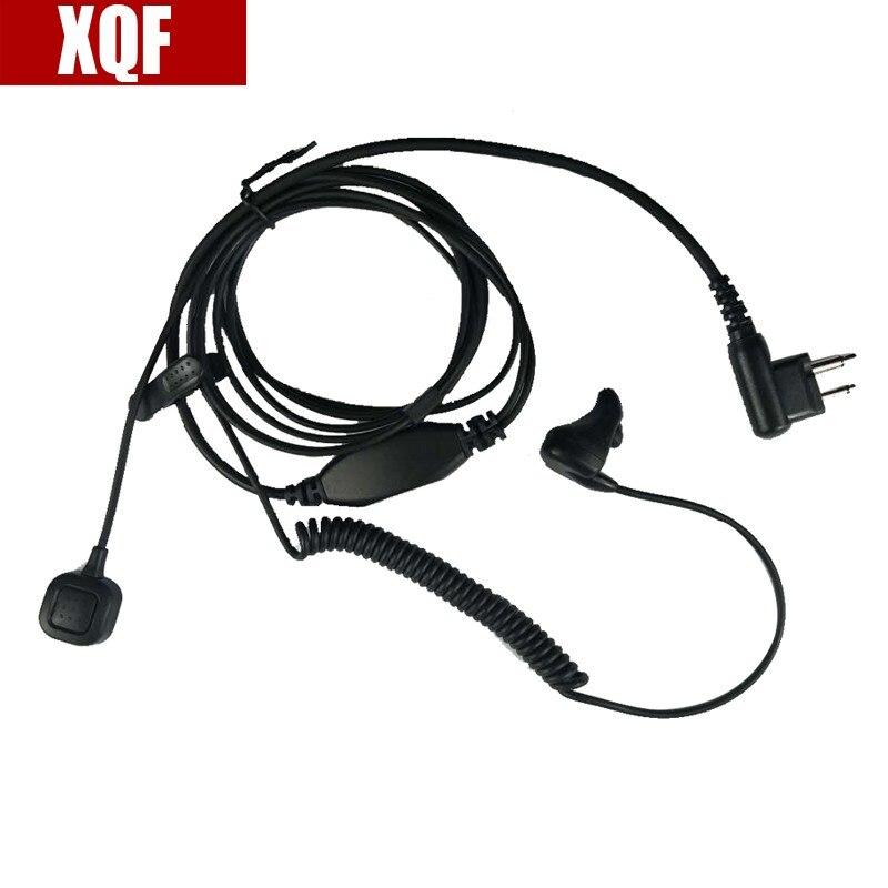 2 Pin Earpiece Ear Bone Vibrate Finger PTT Headset For Motorola GP Series: GP2000, GP2100, GP300, GP 308, GP68, GP88, GP88 Radio