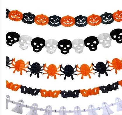 2015 New HO Precious Halloween Paper Chain Garland Decorations ...