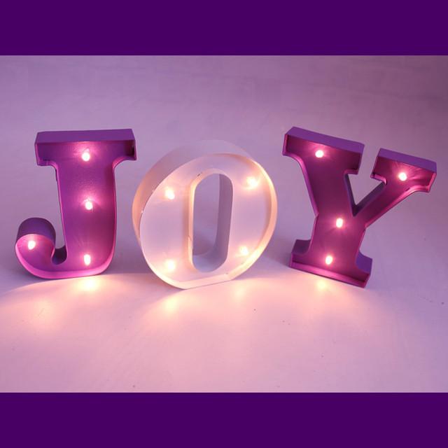 10 CM alta Marquesina LED Mini metal carta Signo de LUZ de noche habitación de niño Deración