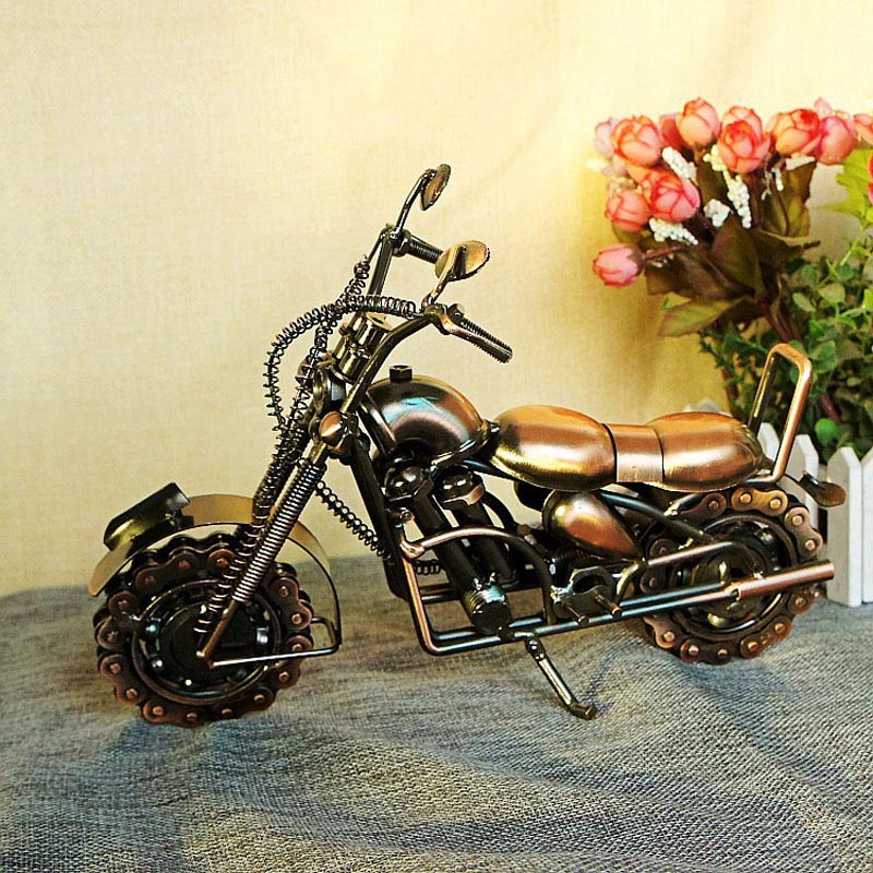 2016 Vintage Chain Motorcycle Model Metal Craft For Home