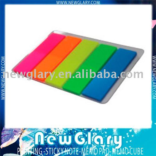 Top selling Free shipping sticky post note color film index 5 color 20sheet/strip.
