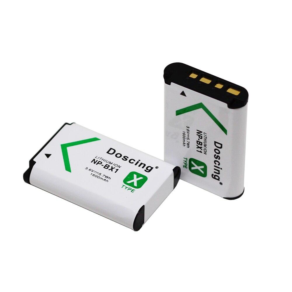 2x Battery for Sony NP-BX1 RX1 RX1R RX100 DSC-WX300 DSC-HX60V DSC-HX400 HDR-AS15
