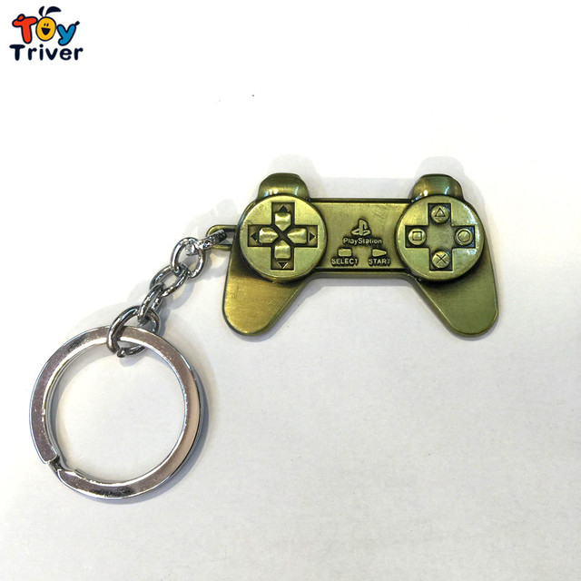 US $4 99 |Metal Playstation Game Controller keychain keyring bag pendant  accessories toys model birthday party game gift for man Triver-in Gags &