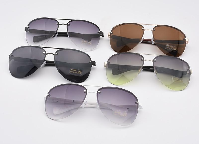 2017 diseñador de moda de metal sin montura gafas de sol mujeres - Accesorios para la ropa - foto 5