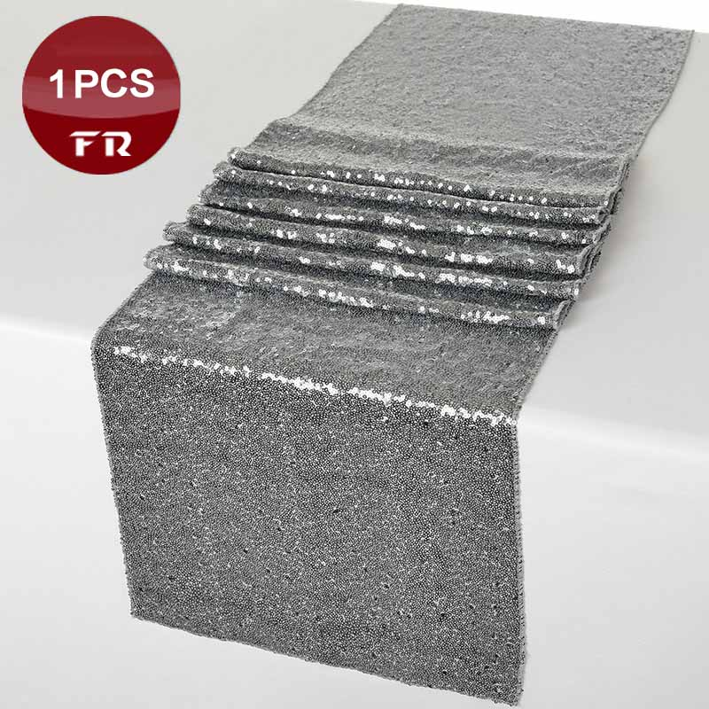 factory retail 1pc cheap sequin table runner of wedding shining stone gold silver table cloth runners in event u0026 party supply