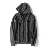 Large Size Hooded Men's Sweatershirt Jacket Plus Velvet Autumn and Winter Models