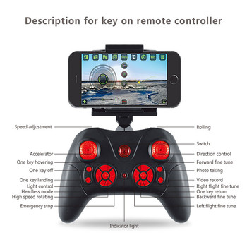 Mini RC Drone With Camera HD 4-Axis Aircraft Wide-angle 2MP 5MP WiFi Camera Real Time Video RC Quadcopter Drone KY101 For 5