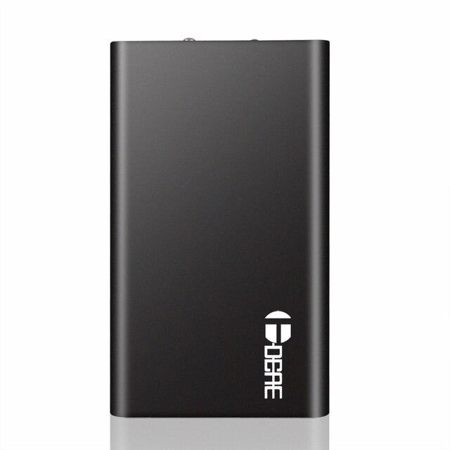 Новый Мобильный Банк Питания 10000 мАч Dual USB Портативный Металлический Корпус Литий-Полимерный Внешнее Зарядное Устройство Powerbank Для iPhone 6 s 7 s