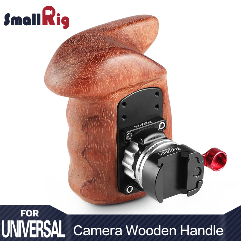 SmallRig Camera Handle Video Right Side Wooden Grip Stabilizer With NATO Mount Quick Release Handle Kit 2117