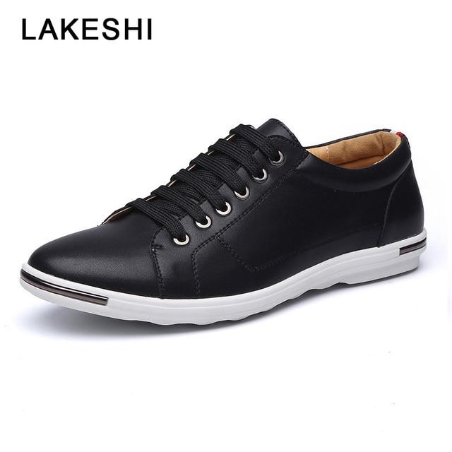 LAKESHI New 2018 Men Shoes Brand Flat Shoes Men Fashion Male Shoes Summer Footwear Comfortable Men Casual Shoes 2