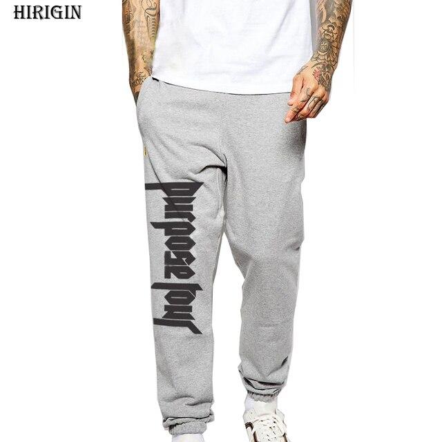 f14dac1edc033 Justin Bieber PROPÓSITO GIRA Pantalones de Chándal Para Hombre Largo Baggy  Harem Pantalones Pantalones