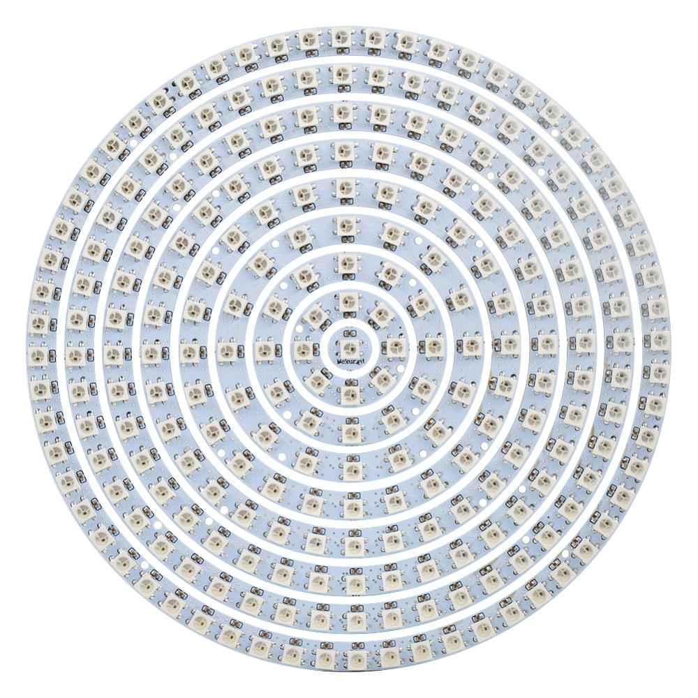 Mokungit 1 8 12 16 24 32 40 48 60 93 241 Bits LEDs WS2812B Ring SK6812 5050 RGB LED Ring 5050 Built-in RGB Driver for Arduino ws2812b 4 4 16 битный полноцветный 5050 rgb светодиодные лампы свет панели для arduino