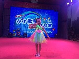 Image 2 - Traje de dança para meninas, traje de dança para meninas, infantil, colorido, vestido de dança para meninas, sexy, moderno, roupa de dança
