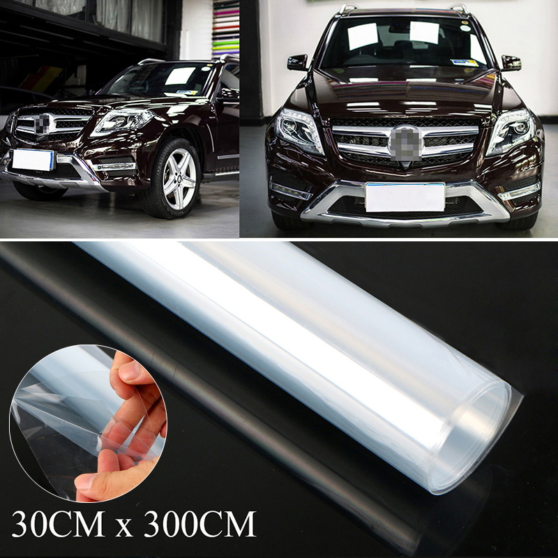 1pc Car Clear Paint Protection Vinyl Film Wrap Transparent Car Paint Scratch Shield 3 Layers 300*30cm