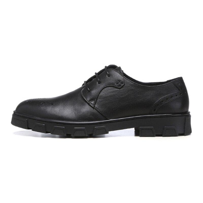 Sapatos New Derby Britânico Até Homem marrom Preto Do Calçados Homens Dedo Pé De Genuíno Dos Couro Esculpidos Redondo Ss84 Formal Plana Vestido Rendas Designer Plataforma rYUw6qr