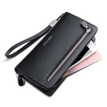 FALAN MULE Luxury Brand Mens Wallets Genuine Leather Long Business Zipper Purse Clutch Wallet