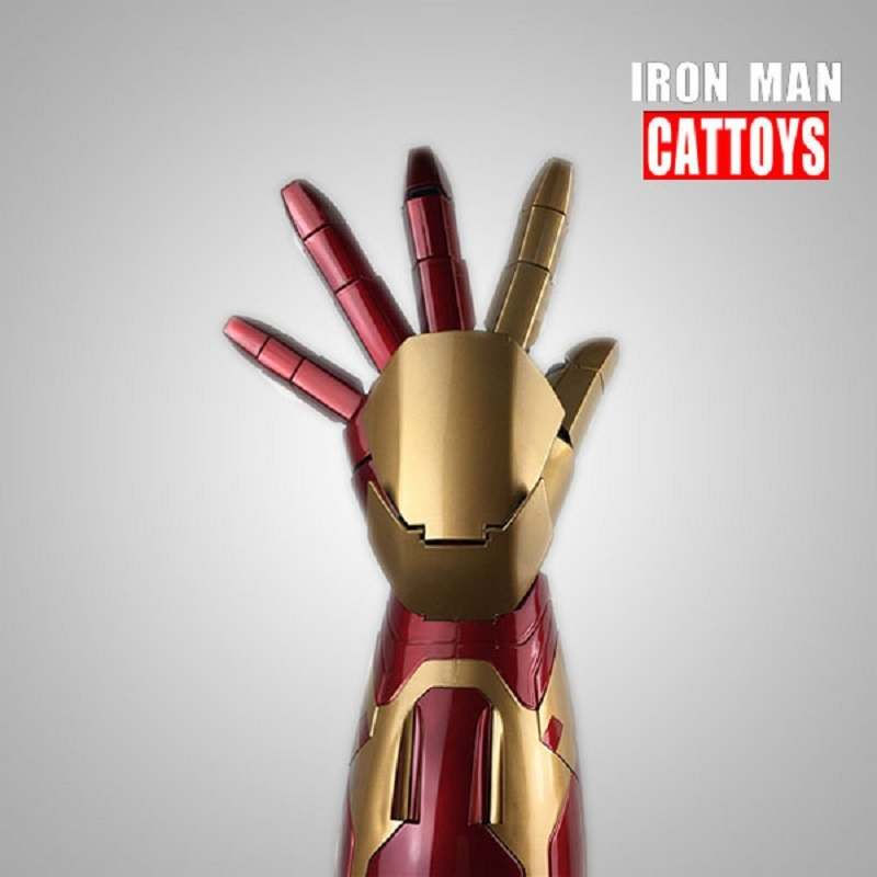 SOUND EFFECT COOL CATTOYS 1:1 IRON MAN MK42 ARM WITH LASER DEVICE+PALM LIGHT