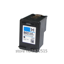 High quality 1pcs  Black compatible ink Cartridge For HP 802 HP802 use in DeskJet 1000 1050 2050 2050s 3050 Printer