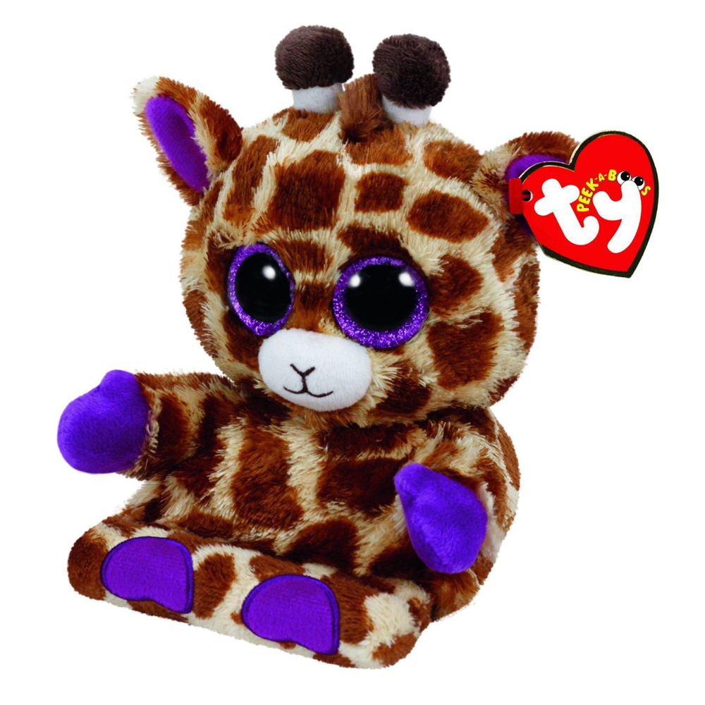 Pyoopeo Ty Peek-A-Boo Jesse Giraffe Phone Holder with Screen Cleaner Bottom Plush Stuffed Animal Collectible Doll Toy with Tag