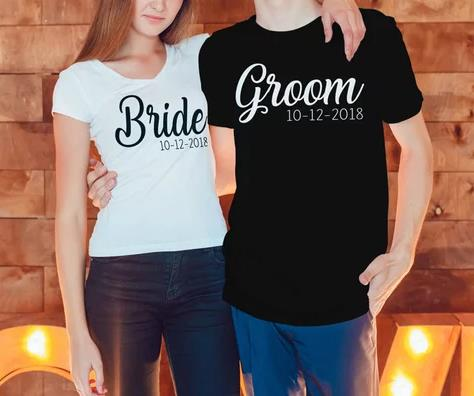 475f5bec8 personalized Wedding Mr and Mrs T Shirts Bride Groom T Shirt Honeymoon  Valentines Day Gifts Marriage TShirt tanks tops tees-in Party Favors from  Home ...