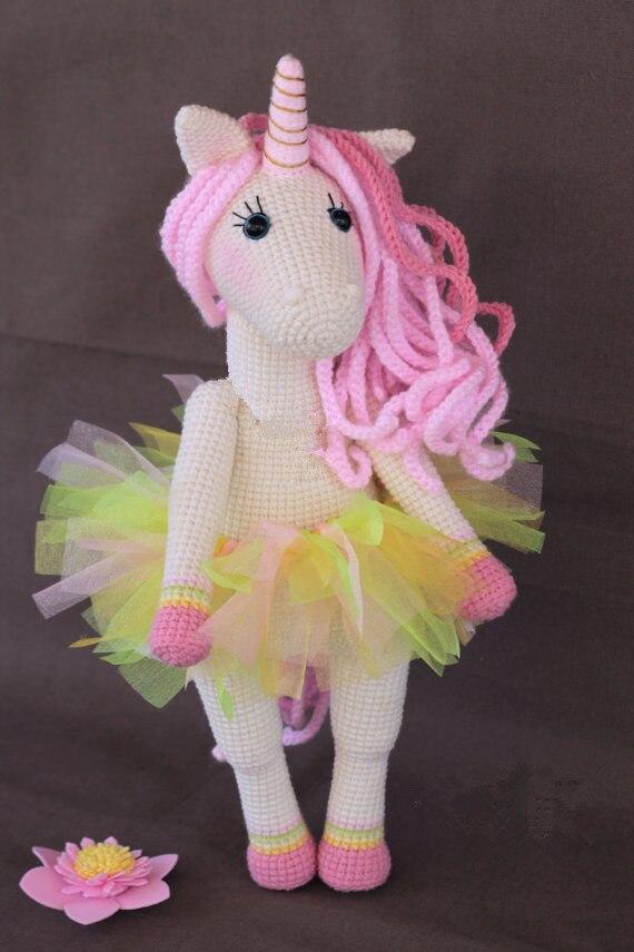 Crochet doux licorne jouet Amigurumi poupée hochet