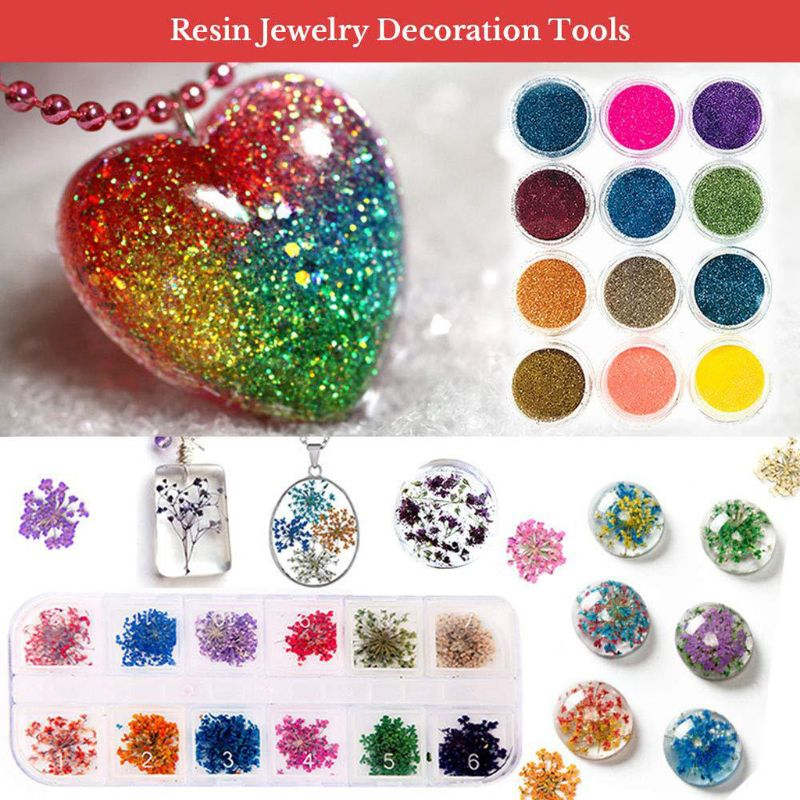Glitters Repoxy Tools Crystal Clear Epoxy Resin Dye Resin Kit For Jewelry Making Beginner Resin Molds Art Supplies Resin Charms