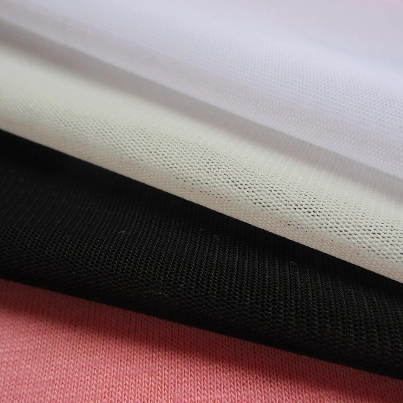 1 yard french smooth stretch thin mesh fabric patchwork casual sport net fabric designer slim dress patchwork fashion show cloth