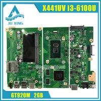 Original For ASUS X441UV Laptop Motherboard X441U X441UV REV2 1 I3 6100U Processor Graphic GT 920MX
