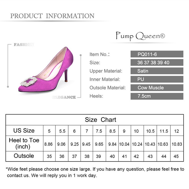 Women Pumps Blue Purple Hot Wedding High Heels Rhinestone Brand Shoes 2017 Luxury Designer Satin Ladies Shoes Pointed Toe talon