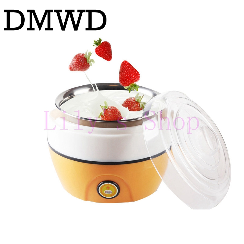 все цены на DMWD Automatic yogurt maker Electric Buttermilk Sour cream making machine yoghurt machine stainless steel liner container 1L EU